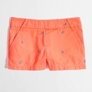 J. CREW Chino salmon pink nautical denim shorts 4